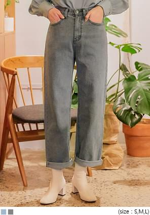 VOYDI ROLL UP WIDE DENIM PANTS