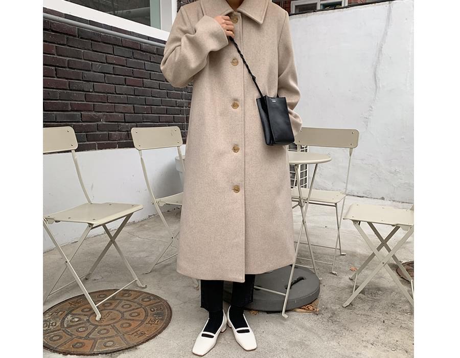 Clam wool long coat_U (울 60%) (size : free)