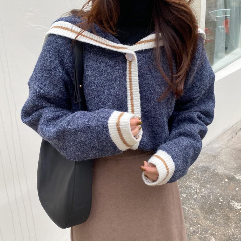 Dual Color Button Knit 針織衫