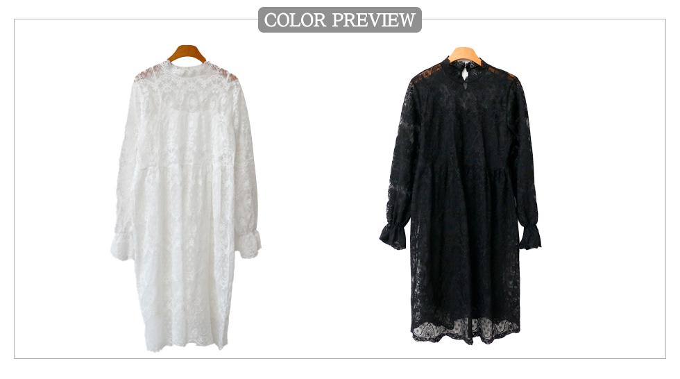 吊带衬裙蕾丝透肤连衣裙两件套