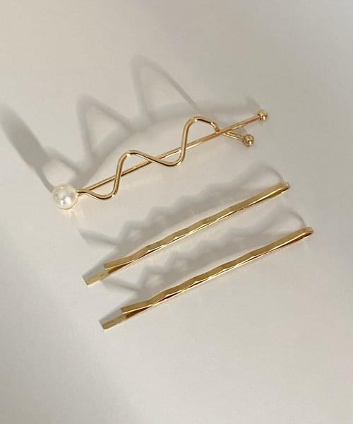 wave pearl hair pin
