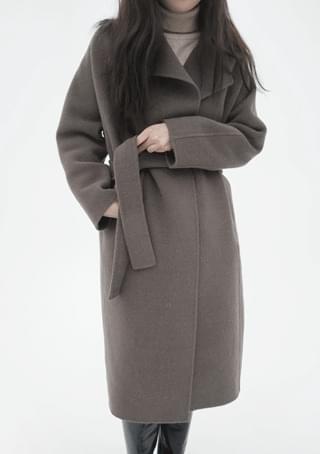 wide collar handmade coat (3colors)