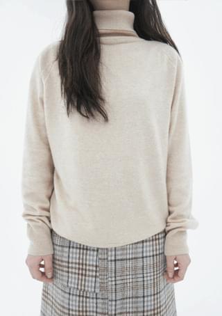 cashmere raglan pola knit