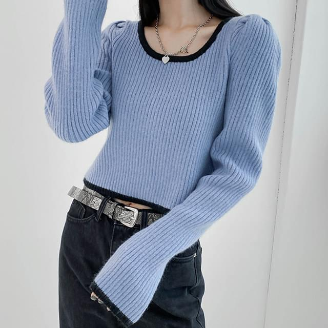 Puff Funny Square Knit ニット