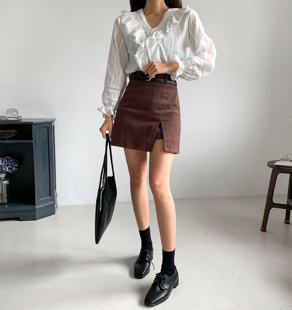 Peach Bolt Skirt Pants