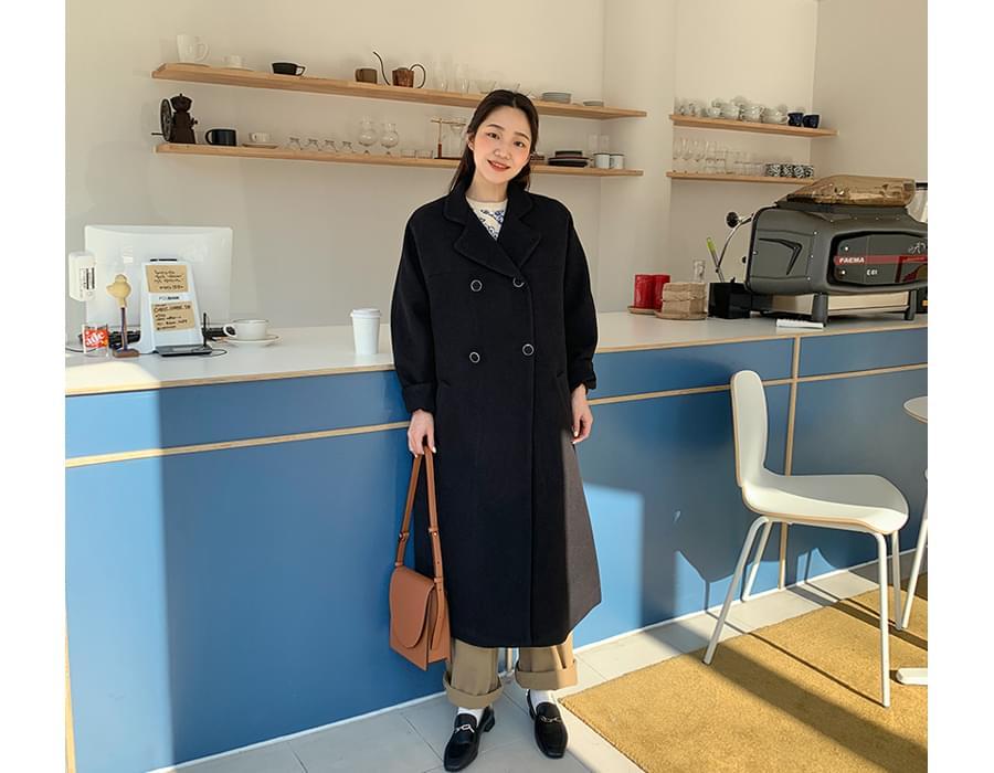 Drow wool long coat_A (울 20%) (size : free)