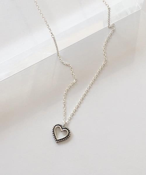 dot heart necklace necklace