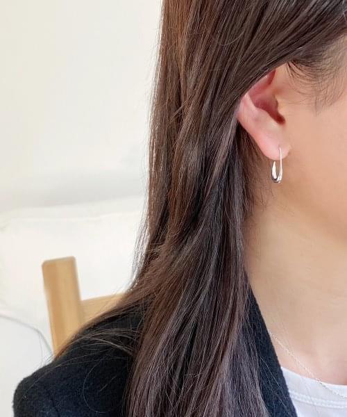 (silver925) gaff earring