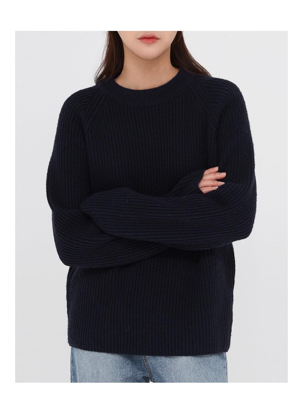 the golgi round wool knit