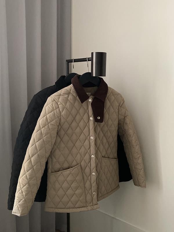 MMMM / Diamond Quilting High Density Half Jacket