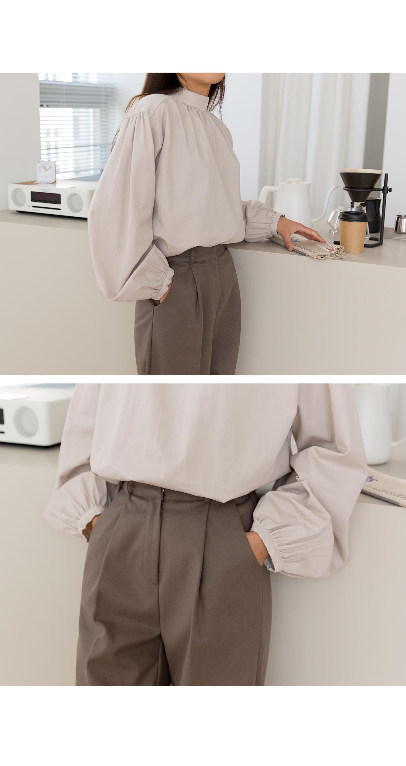 Tino high neck blouse