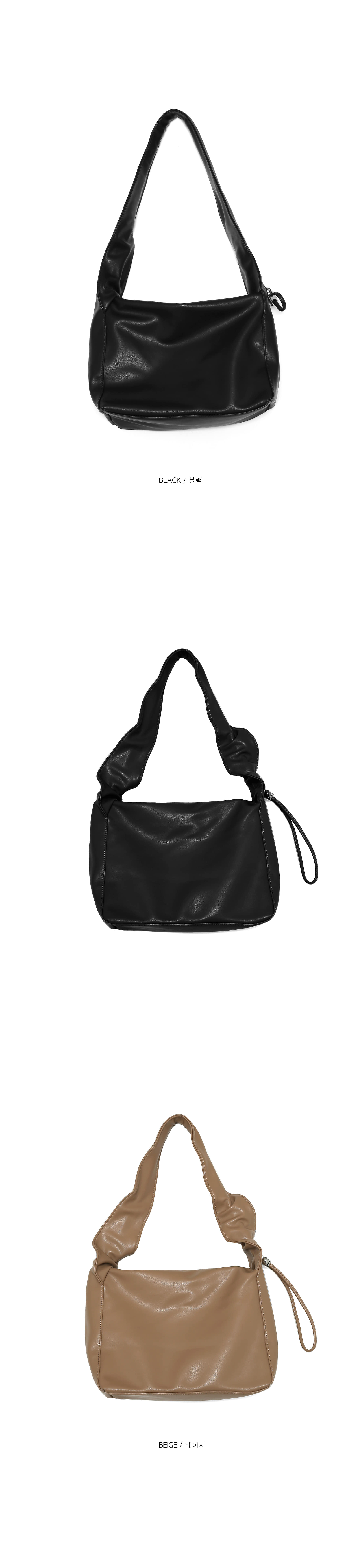 square leatherstring shoulder bag (2 color)