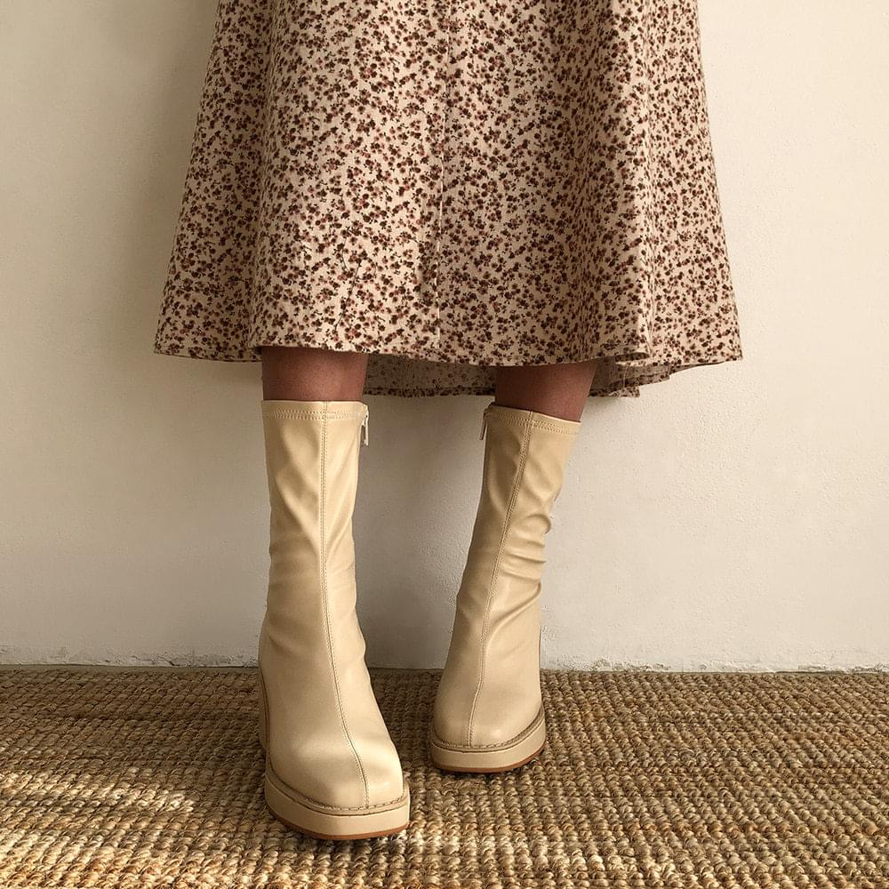 Belua brushed middle boots