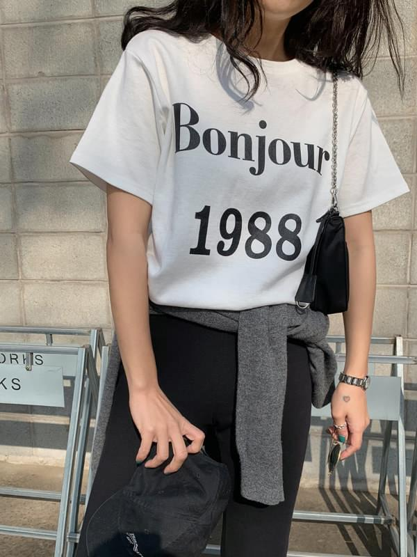 'BONJOUR.1988' Tan Tan Short Sleeve