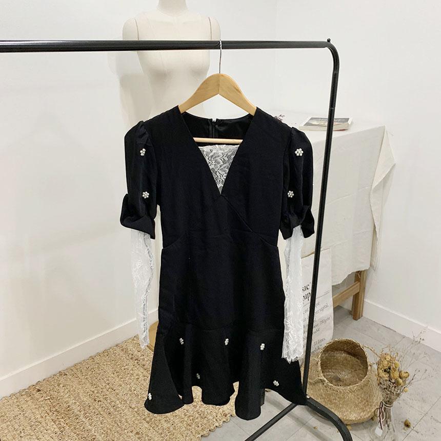 Sweet Lace See Through Mini Dress