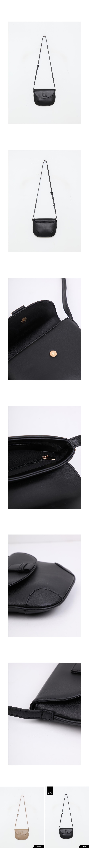 Plain half moon shoulder bag