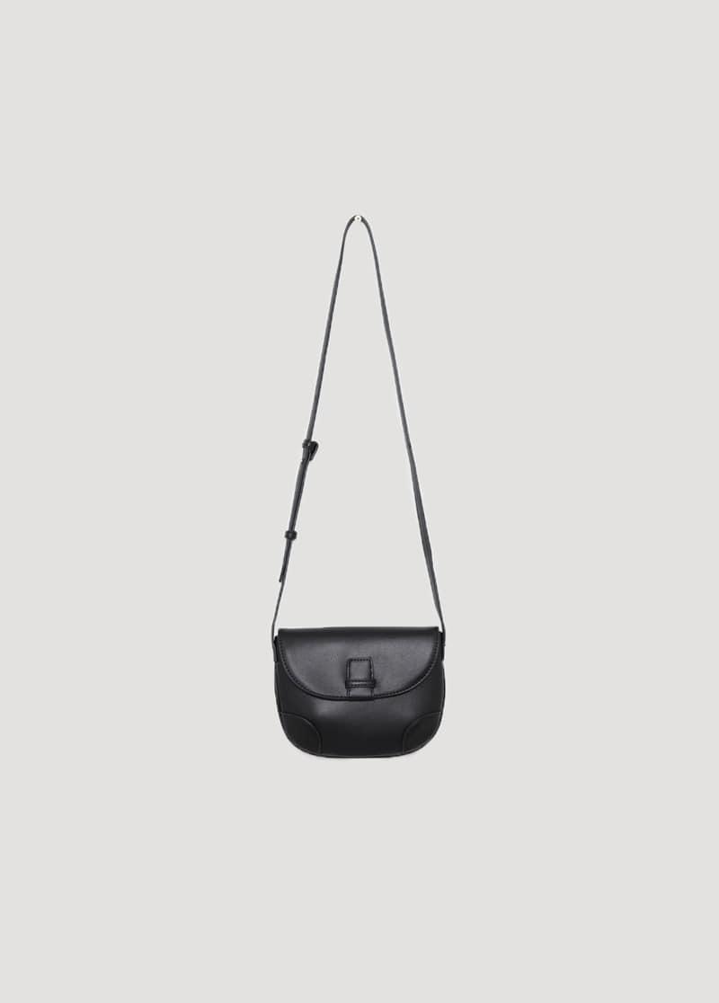 Plain half moon shoulder bag Shoulder Bags