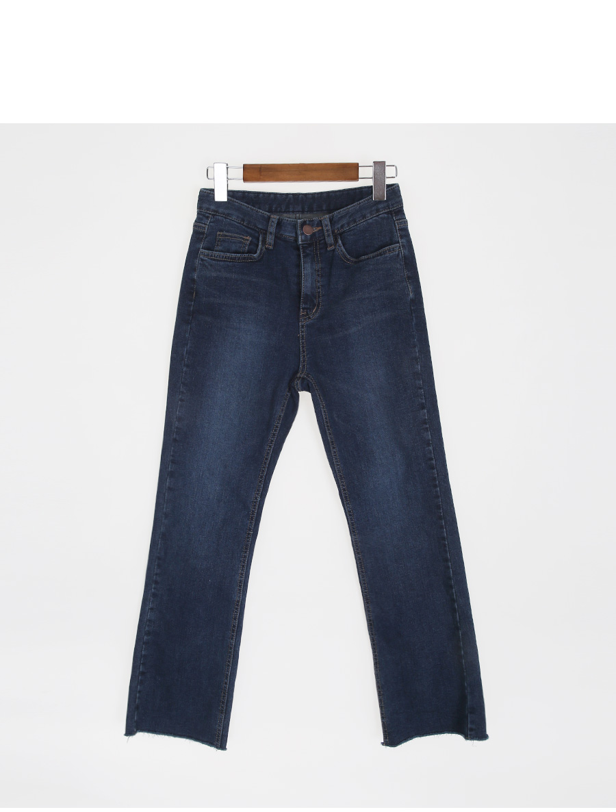 Semi-boots brushed deep blue jeans