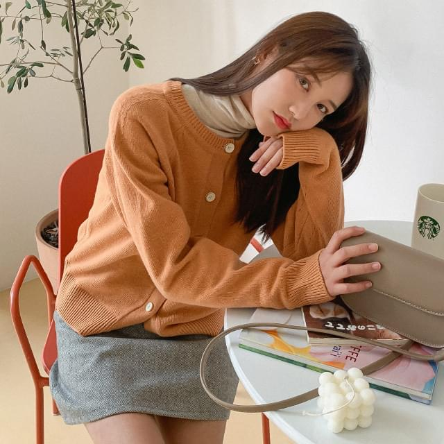 Daily Colorful Wool Cardigan-cd