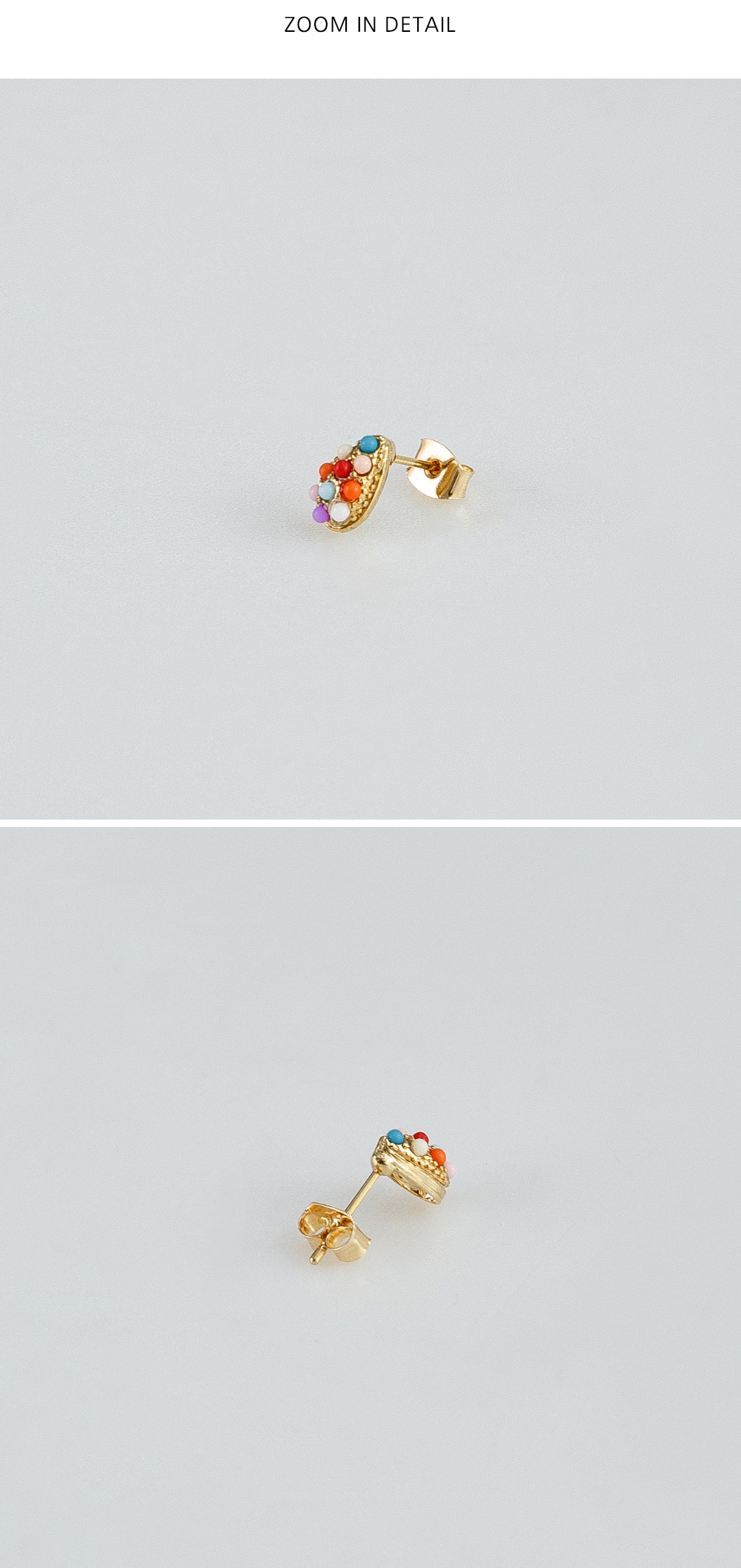 coloring beads earring
