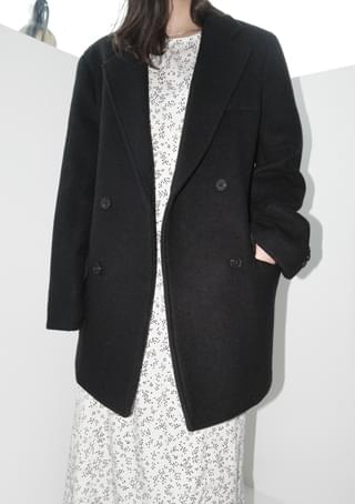 classy wool double button coat (2colors)