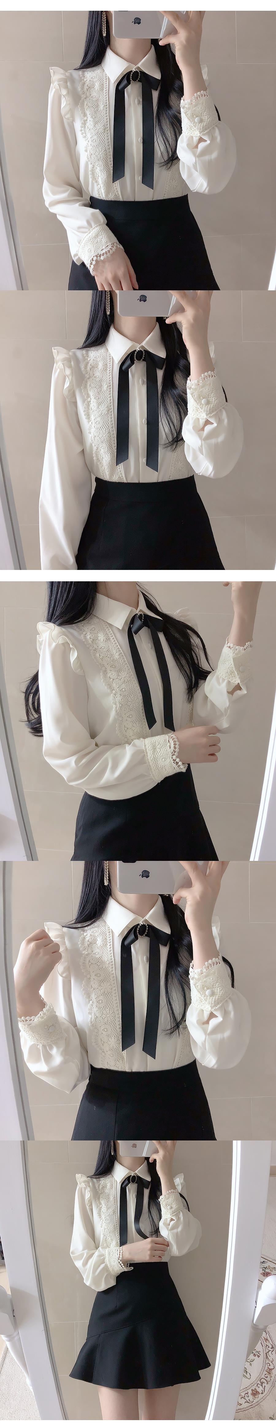 Broochset ♥ Leah lace blouse