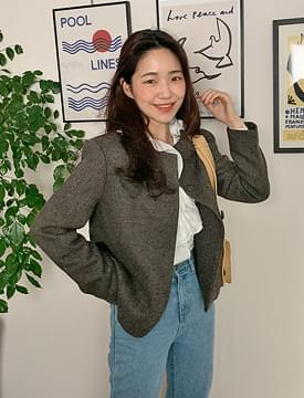Lave round wool jacket_H (size : free)