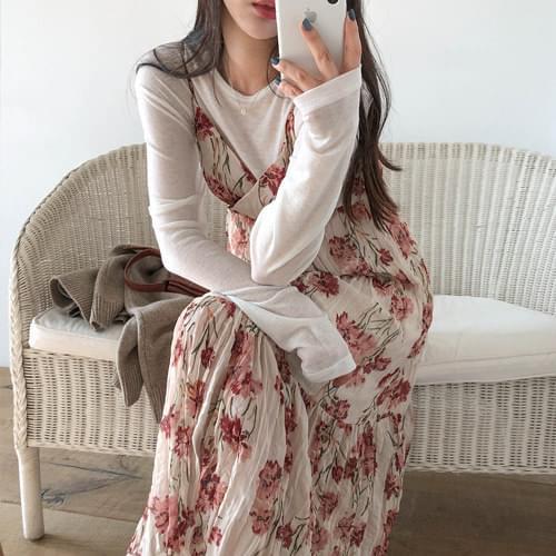 LABIEN FLOWER LONG DRESS