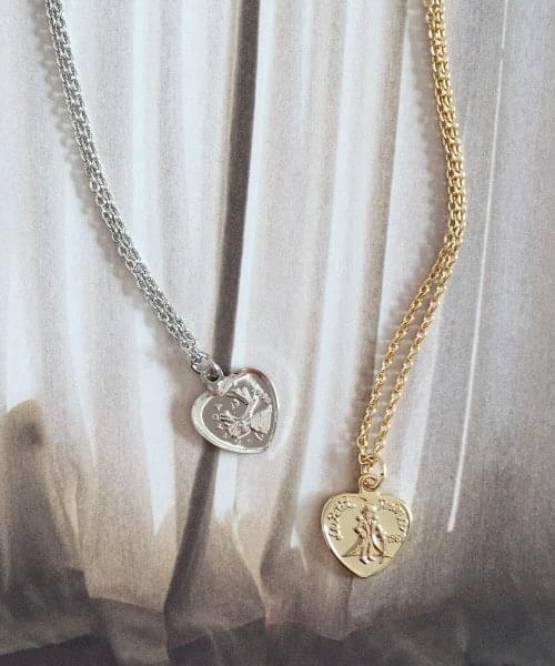 heart coin necklace necklace