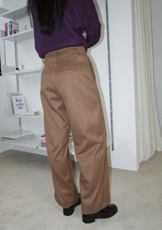 deep fluffy button pants (2colors)