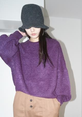 wool knit bucket hat