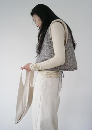 cropped floral vest (2colors)