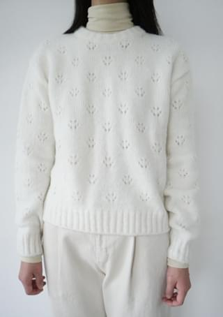 pure daisy pattern knit (4colors)