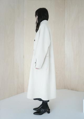 handmade wool high neck coat (3colors)