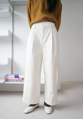 clean silhouette wide pants (2colors)