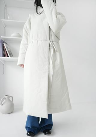 clean shawl collar padding jumper (2colors)