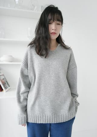 natural wool collar knit (3colors)