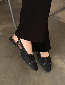 Vintage stitch flat shoes_U