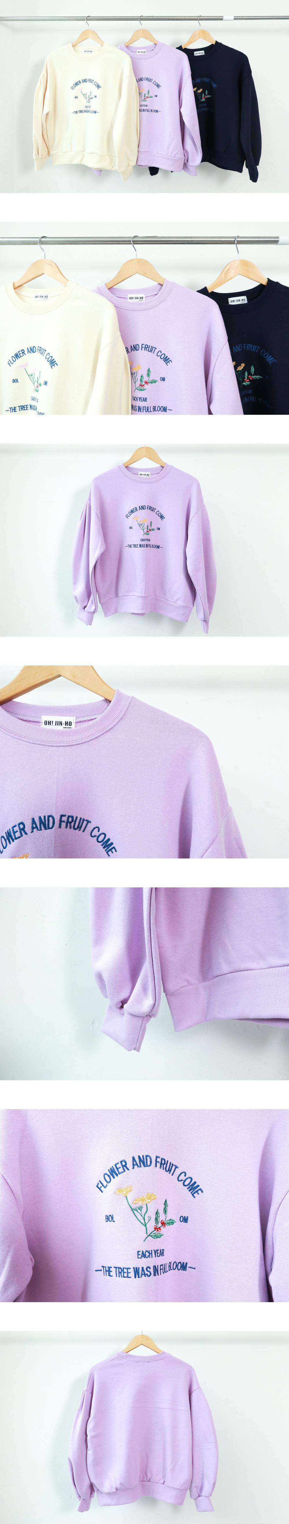 Fruit lettering sweat shirt