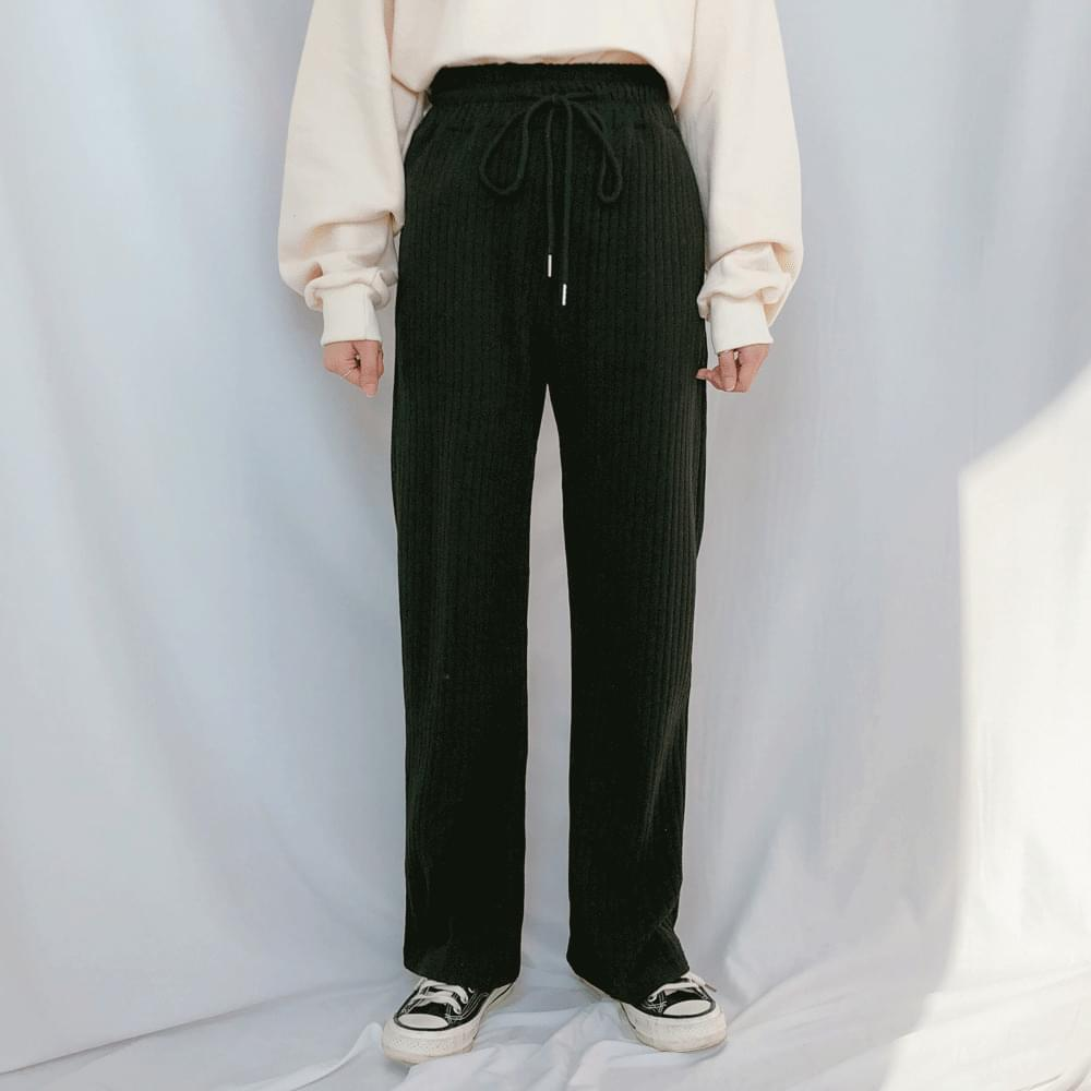 Bare ribbed long pants