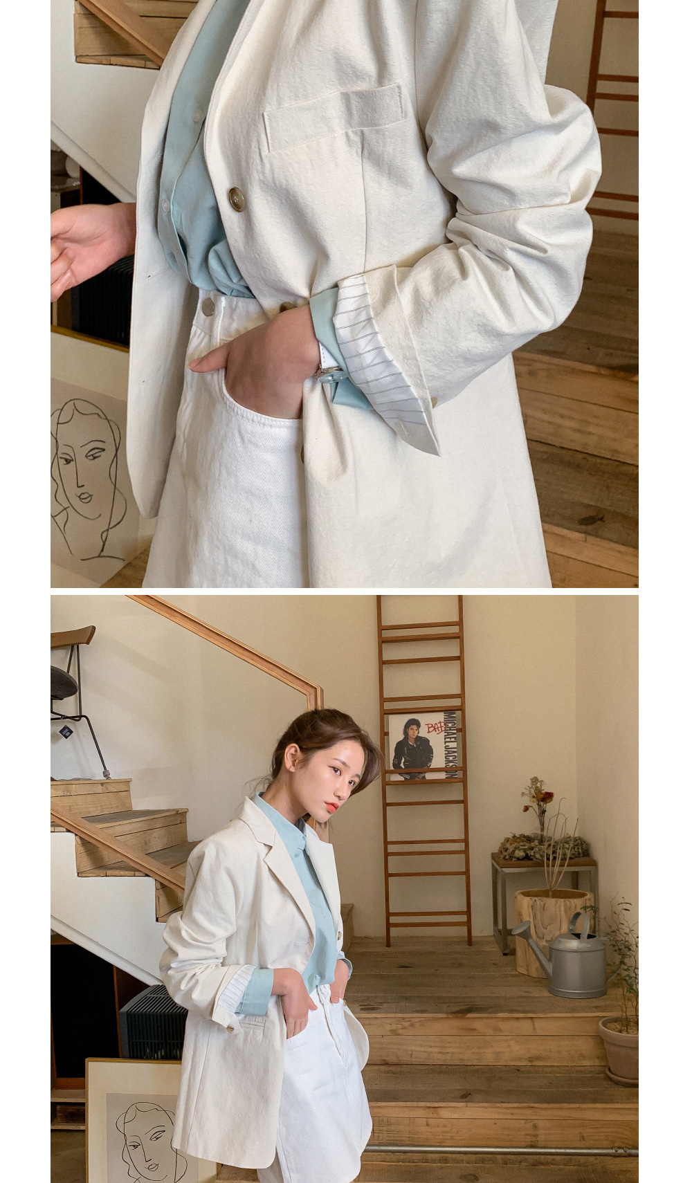 Daily simple cotton jacket