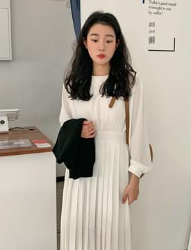 Silky shirring long ops_A