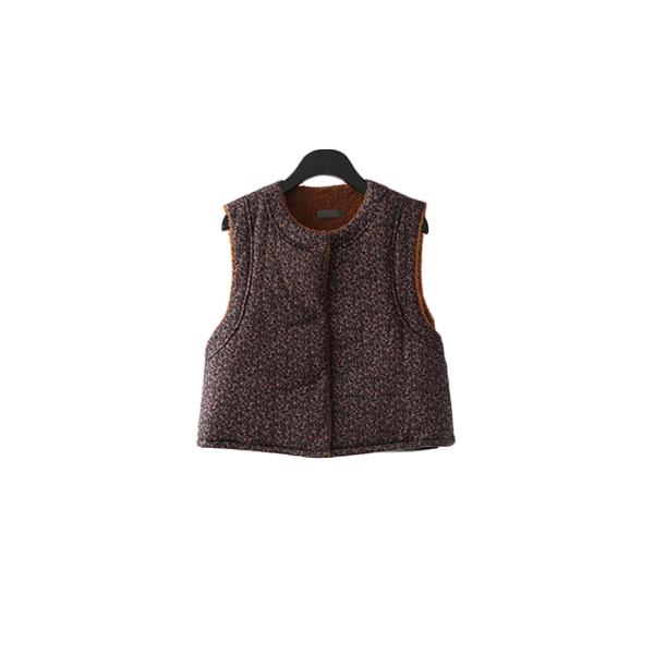 cropped floral vest