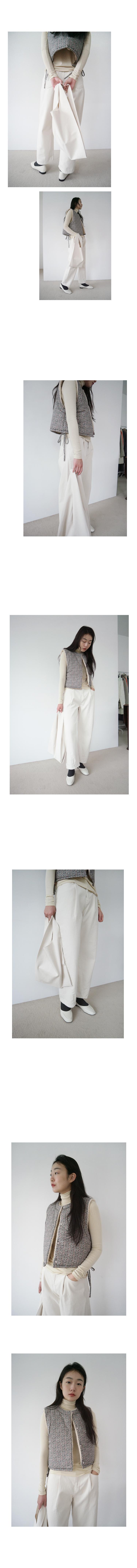 diagonal line cotton pants (2colors)