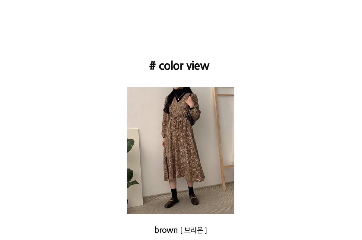 ANMOLab Ribbon Long Dress