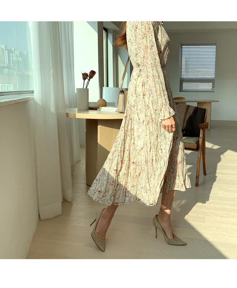 Shimmering Flower Long Dress
