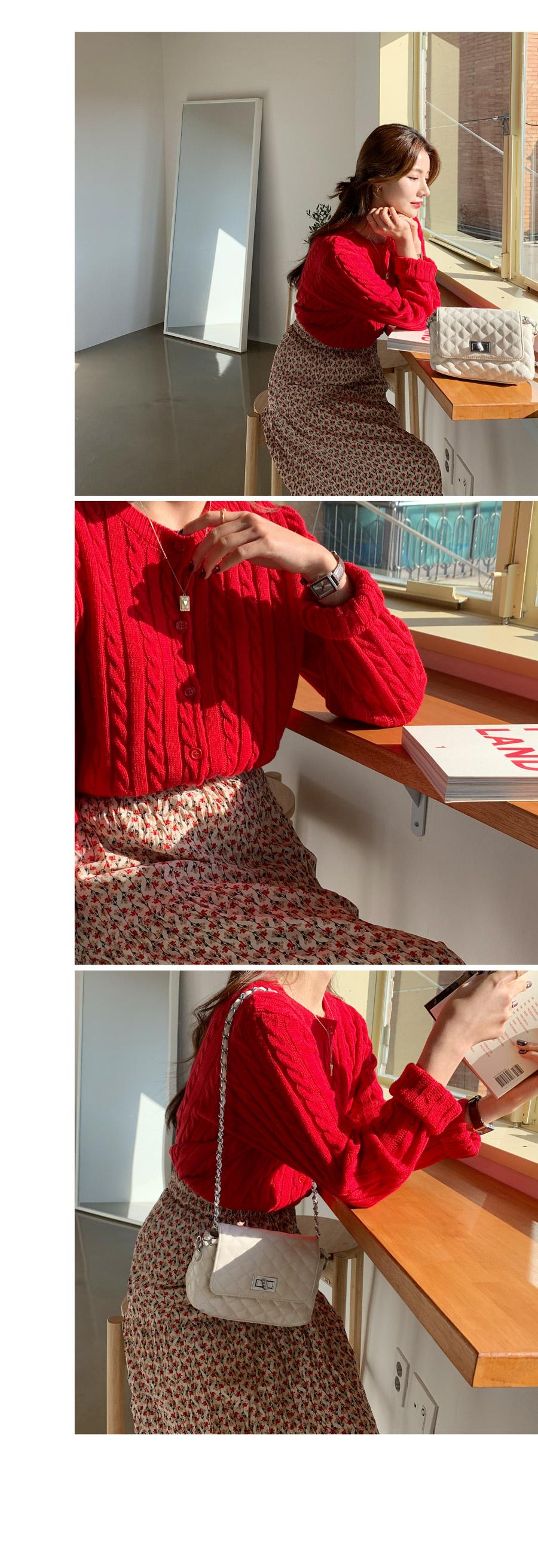 Red Flowering Klong Skirt