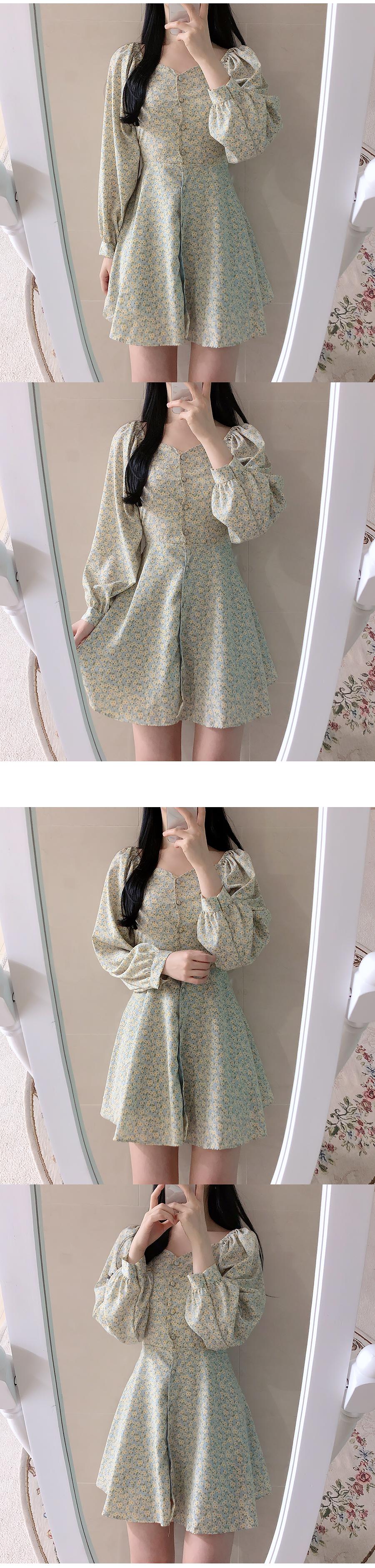 Wendy floral shoulder dress