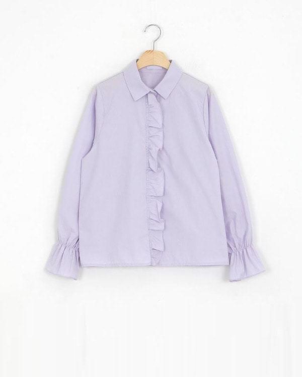 SALE) frill candy shirt