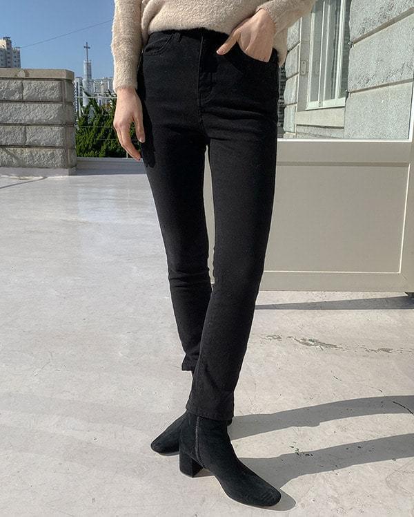 Daily slim span brushed pants